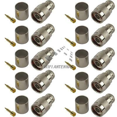 10 Pack of N-Type Male Crimp Connector - CFD600