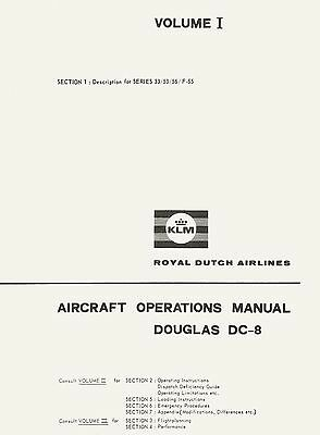 Douglas Dc-8 Series 33/53/55 & F-55 - Aircraft Operations Manual - Vol. I & Ii
