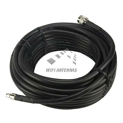 N-Type to RP-SMA Male Extension Cable 10 Metre Lead Low Loss HDF400 Antenna WiFi