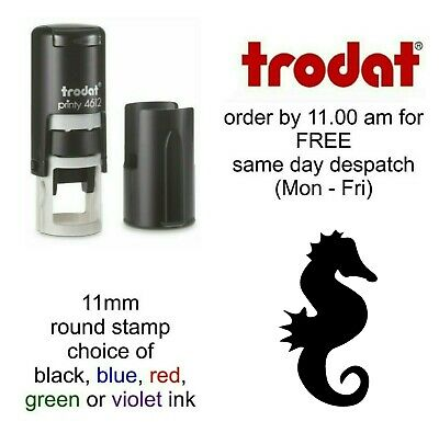 Seahorse Rubber Stamp Self Inking cafe bar shop restaurant school Loyalty Card