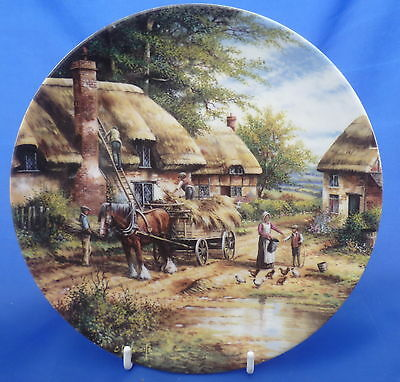 Wedgwood Country Days Collector Plate By Chris Howells - Mending The Thatch