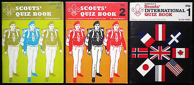 SCOUTS' QUIZ BOOKS x3-VINTAGE PAPERBACKS-EARLY 70'S-GREAT CONDITION!!!