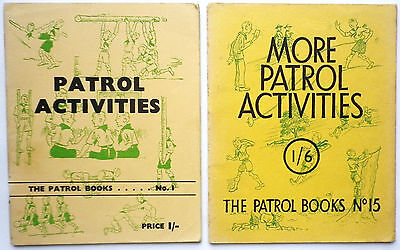 PATROL ACTIVITIES-VINTAGE P/BK BOOKLETS x2-60'S-SCOUTING-GREAT CONDITION!!!