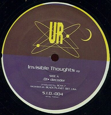 "UNDERGROUND RESISTANCE ‎'Invisible Thoughts EP' vinyl 12"" - S.I.D.004 - 1995"