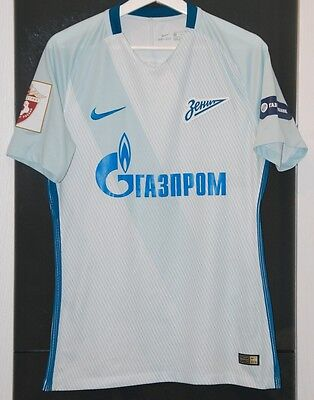 Zenit Peterburg (Russia) Match Worn Shirt Russian League 2016-17
