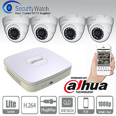 4 Full Hd 720P Dahua Dome Camera Cctv System Outdoor 1080Pdvr 4 Channel P2P Hdmi