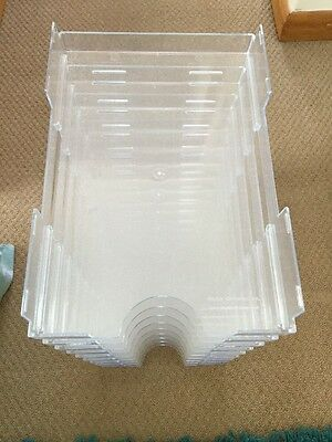 Acrylic Paper trays A4 Stackable X 10
