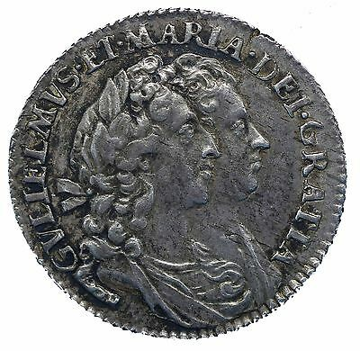 William and Mary Silver Sixpence 1693 S3438 GEF
