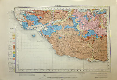 Geological map Llantwit Major - Cowbridge area, First Surveyed 1872