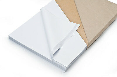 """White Packing Paper Newspaper Offcuts (15"""" x 15"""")"""