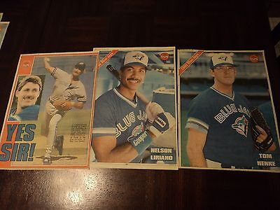 Lot of 21 Toronto Sun 1990 Blue Jays Player Insert Picture Posters  11 X 14