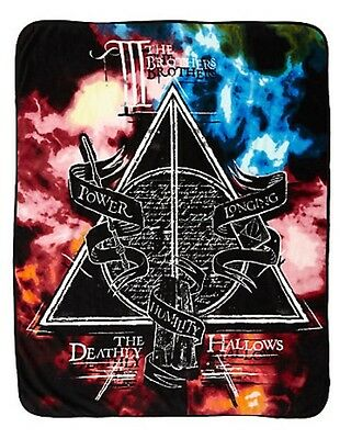 "Harry Potter Deathly Hallows Clouds Super Plush Blanket Throw 48"" x 60"""