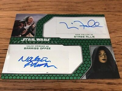 Star Wars Chrome Chrome Perspectives Jedi Dual Auto Fallon & Krishan 027/200