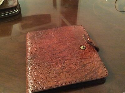Vintage men's oak calf leather bifold wallet brown made in England