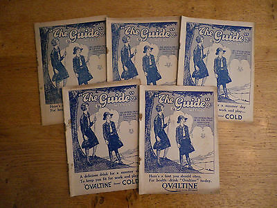 10 1930s Issues of 'The Guide' Magazine for Girl Guides/Scouts