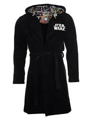 New Mens Star Wars Adult Dressing Gown Bathrobe Robe Loungewear Nightwear XL