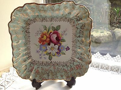 James Kent Old Foley Floral China Square Dish/cake Plate