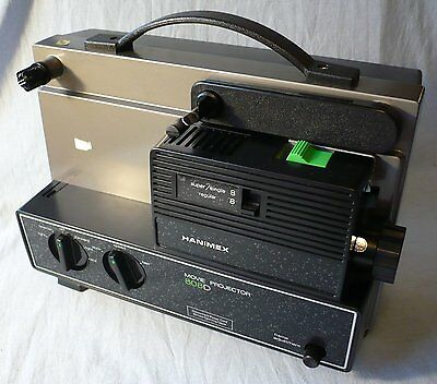 Hanimex 808D Regular and Super 8 Silent Movie Projector