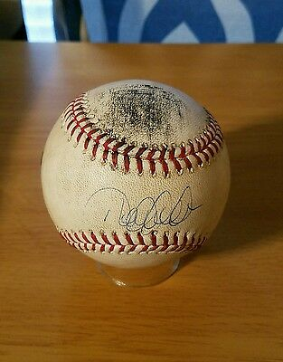 2013 New York Yankees Derek Jeter Signed Game Used Baseball MLB Steiner