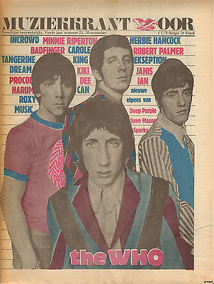 MAGAZINE OOR 1974 nr. 23 -  WHO/CAN/CAROLE KING/BADFINGER/ROXY MUSIC