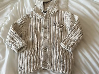 Next Boys  Knitted  Hooded Cardigan Age 2-3 Years