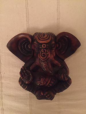 Ganesha Statue Figure Wood Ornament Yoga Hindu 20Cm High Quality