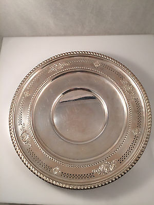 """Birks Sterling Silver 9"""" Tray Sir Wren pattern same as Wallace, Sir Christopher"""