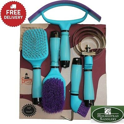 Horse Grooming Kit Gel Handle Brushes Clearance Offer!!