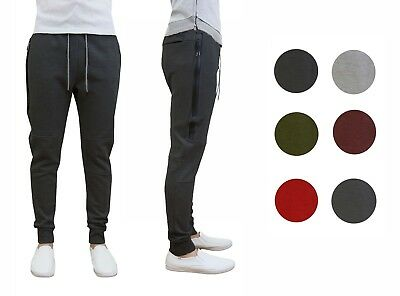 Mens Tech Fleece Joggers Active Performance Pants - Slim Fit *FREE SHIPPING*