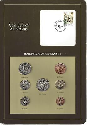 Coin Sets of All Nations - Guernsey, Brown Card
