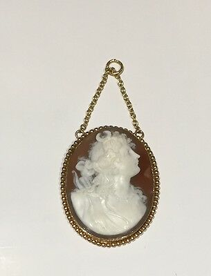 Victorian Cameo Pendant In 18ct Gold