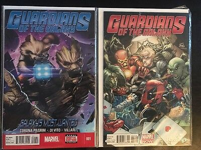 Guardians Of The Galaxy Comic Lot #'s 1, 1 Variant Marvel