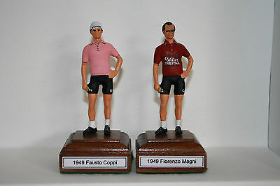 1949 Fausto Coppi or Fiorenzo Magni cycling rider hand painted metal figurine