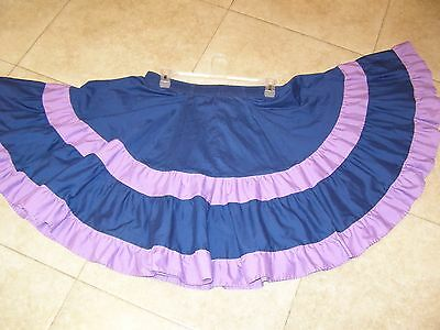 Square Dance Skirt Blue With Purple Large