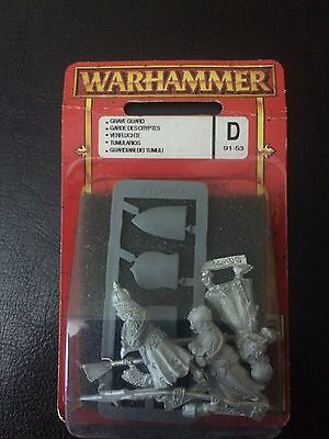 GRAVE GUARD x3 WARHAMMER METAL armoured skeletons Undead Tumularios