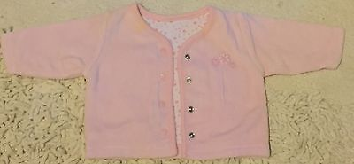 Pink NEW BABY Up To 10lbs Pink Winter Cardigan. MOTHERCARE. Popper Fastening.