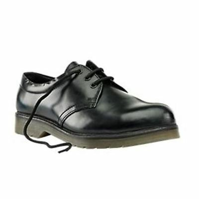 Sterling Steel Cushion Sole Safety Shoes Black Size 10 RRP £39.99
