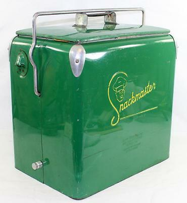 c. 1949 Snackmaster Ice Chest Picnic Cooler with Tray - Not Coca Cola or Pepsi
