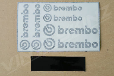 6x Brembo Decals Stickers for Brake Calipers Superior Cast STi Porsche Ford WRX