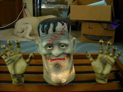 Vintage Molded Frankenstein Flashing Head with seperate hands