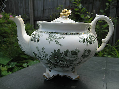 Antique Rare Mid 19Thc Copeland And Garrett(Spode) Teapot C.1840