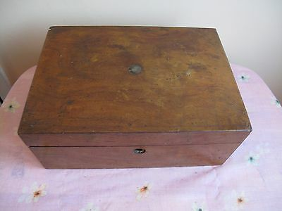 Antique Victorian Wooden Writing Box Slope