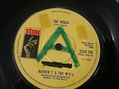"""BOOKER T & THE MGs..THE HORSE / SLUM BABY1969 STAX SOUL 7"""""""