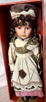 "Brand New 18"" Red Shed Rebecca  Porcelain Doll"