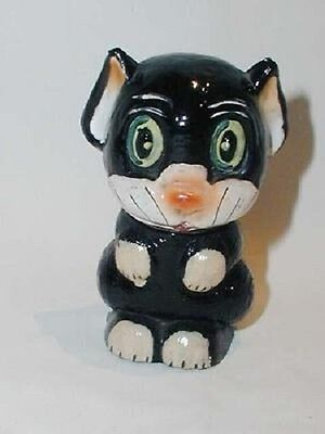 Vintage Antique OOLOO Black Cat Perfume Scent Bottle Bonzo Related