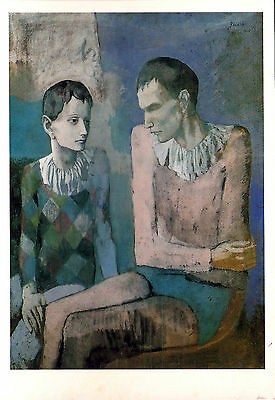 Postcard Pablo Picasso Acrobat And Young Harlequin 1905