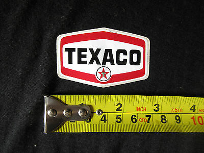 "Decal vintage Texaco sticker 2.5"" X 1.5""  6 cm X 4 cm"