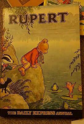 Vintage Rupert - The Daily Express Annual 1969 - 47 Years Old - Silver Age