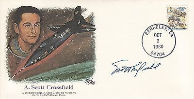 Scott Crossfield - X-15 - Test Pilot - First to Mach 2 - Hand Signed