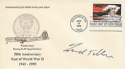 Edward Teller - Father of the H-Bomb - Signed Cover.